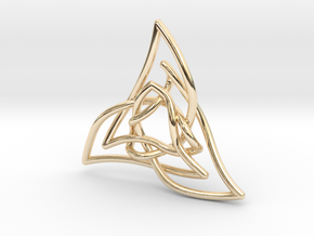 Triquetra 3 in 14K Yellow Gold