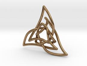 Triquetra 3 in Natural Brass