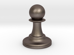 Pawn in Polished Bronzed Silver Steel