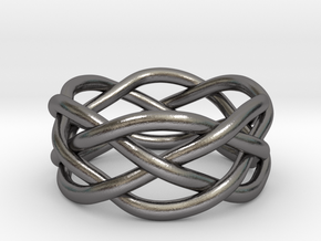 Dreamweaver Ring (Size 6) in Polished Nickel Steel