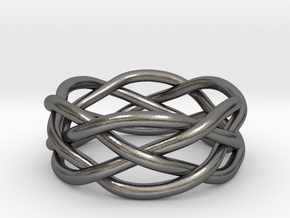 Dreamweaver Ring (Size 8.5) in Polished Nickel Steel