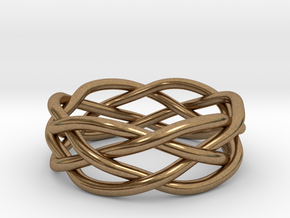 Dreamweaver Ring (Size 10) in Natural Brass