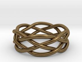 Dreamweaver Ring (Size 10.5) in Natural Bronze