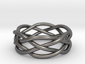 Dreamweaver Ring (Size 11.5) in Polished Nickel Steel