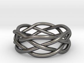 Dreamweaver Ring (Size 13) in Polished Nickel Steel
