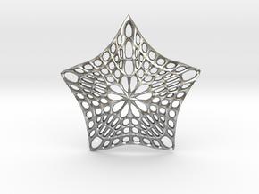 Decorative Ornament 'Star' in Natural Silver