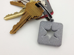 Shapeways Spark Keychain in Metallic Plastic