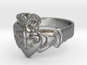 NOLA Claddagh, Ring Size 8 in Natural Silver