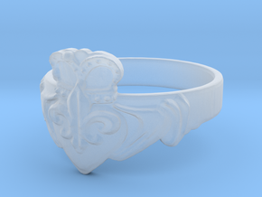 NOLA Claddagh, Ring Size 7 in Smooth Fine Detail Plastic