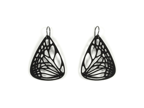 Colorful Butterfly Earrings (L) in Black Natural Versatile Plastic