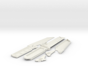 Mando Prop Full in White Natural Versatile Plastic