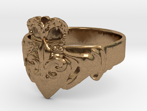 NOLA Claddagh, Ring Size 13 in Natural Brass