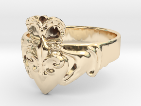 NOLA Claddagh, Ring Size 13 in 14K Yellow Gold
