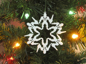 Snowflake He-Man Ornament in White Natural Versatile Plastic