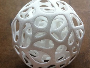 Voronoi Ball in White Natural Versatile Plastic