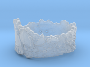 Cloud Ships #1, Ring Size 7 in Smooth Fine Detail Plastic