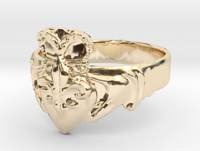 NOLA Claddagh, Ring Size 11 in 14K Yellow Gold
