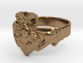 NOLA Claddagh, Ring Size 11 in Natural Brass
