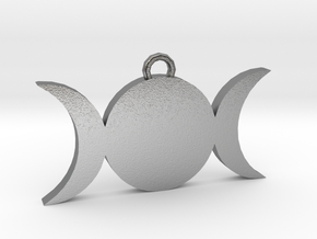 Tripple-Moon in Natural Silver
