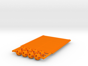 'Sprued' Star Tetrahedron Half-pack #color in Orange Processed Versatile Plastic