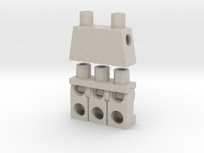 Trinifigure - Three Legged Minifigure in Sandstone