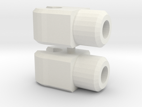 Heroic Duo Alternative Weapon Hinges in White Natural Versatile Plastic