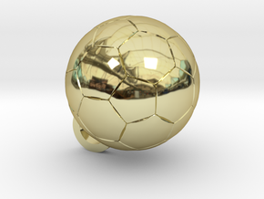 SOCCER BALL FOOTBALL (Pendant or Earring) in 18k Gold