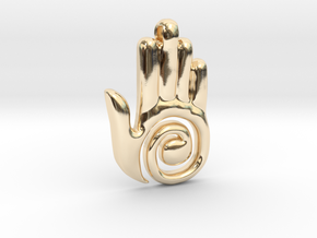 Healer's Hand Charm in 14K Yellow Gold