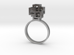 Quadro Ring - US 6 in Natural Silver