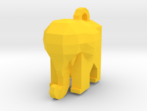 Elephant - Low Poly by it's a CYN! in Yellow Processed Versatile Plastic