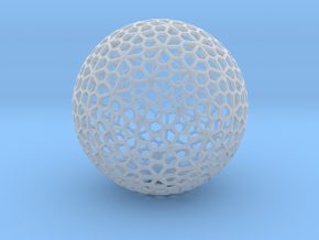 Floral Pattern Sphere in Smooth Fine Detail Plastic
