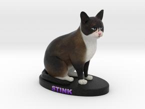 Custom Cat Figurine - Stink in Full Color Sandstone