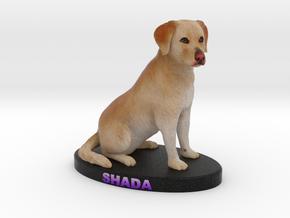 Custom Dog Figurine - Shada in Full Color Sandstone