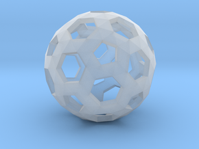 Football Holes Sphere in Smooth Fine Detail Plastic