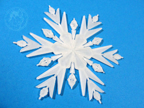 Froze Snowflake Small in Frosted Ultra Detail