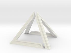 David Pyramid Thick V58.3 - 6cm in White Natural Versatile Plastic