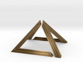David Pyramid Thick - 6cm in Natural Bronze