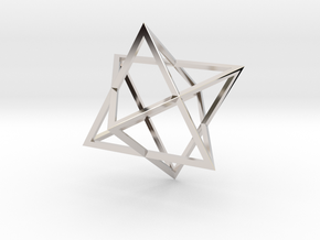 Merkaba - Sharp - 2cm in Platinum