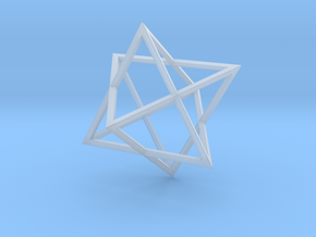 Merkaba - Sharp - 2cm in Smooth Fine Detail Plastic