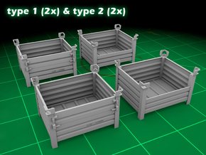 Stackable Container Set 1 in Smooth Fine Detail Plastic