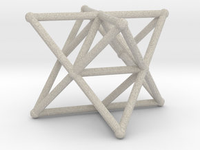 Rod Merkaba Supports OpenBase 3cm in Natural Sandstone