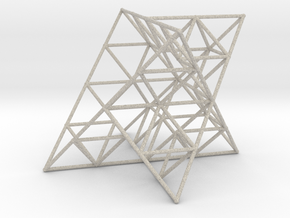 Rod Merkaba Lattice OpenBase 4cm in Natural Sandstone