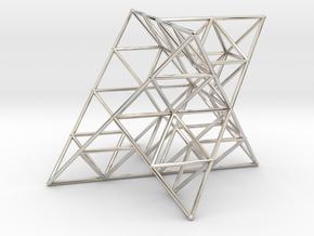 Rod Merkaba Lattice OpenBase 4cm in Platinum