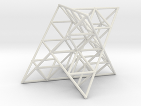 Rod Merkaba Lattice OpenBase 3cm in White Natural Versatile Plastic