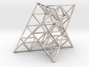 Rod Merkaba Lattice OpenBase 3cm in Platinum