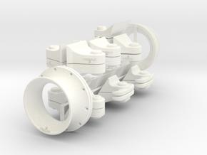 1-16 T95 Hvy Tank Hooks V2 in White Processed Versatile Plastic