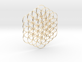 Flower Of Life Weave - 8cm  in 14K Yellow Gold