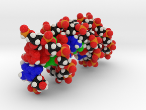 "Personalised DNA Molecule Model ""Katie"" in Full Color Sandstone"