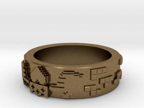 8-bit Claddagh Ring in Natural Bronze: 5.5 / 50.25