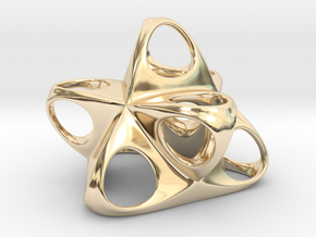 Merkaba Flatbase R1 5cm in 14K Yellow Gold